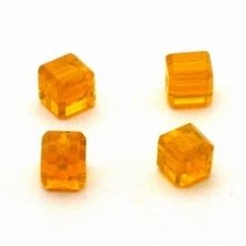 3x Preciosa Handgeslepen kristal kraal 8mm oranje