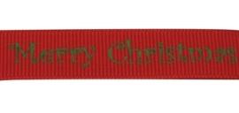 1 meter kerstlint 10mm rood