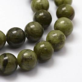 10 keer kraal van Chinese Jade 10mm Gat: c.a. 1mm