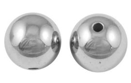 30 stuks metaallook acryl kralen 6mm gat 1mm