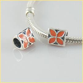 Oranje Bloemen 925 Sterling Zilver