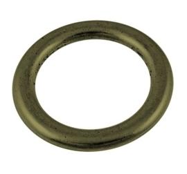 5 x grote gesloten ring 31 x  3mm gat: 25mm geel koper kleur