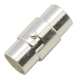 1 x draai magneetsluiting zilver kleur  17 x 7mm Ø6mm