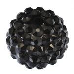 1 x prachtige Shamballa Resin strass ballen 14 x 12mm gat: 2mm zwart
