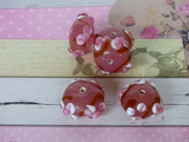 5 x High Quality Glass Hand Made Bead 097  afm. ca. 12 x 21mm