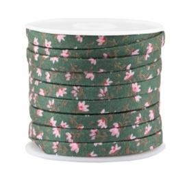 20 cm Trendy plat koord 5x2mm Pine green