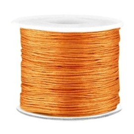Per 2 meter Macramé draad 0.7mm Light copper brown