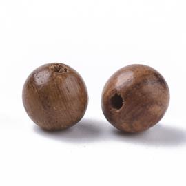 20 x houten kralen rond naturel 6mm Sienna gat: 1,4mm