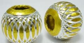 10 x Prachtige aluminium kraal 14mm