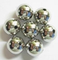 10 Stuks Antiek zilveren metallook kraal rond 8 mm