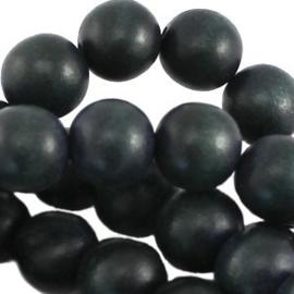 20x Hout kraal 8 mm Dark Jeans Blue
