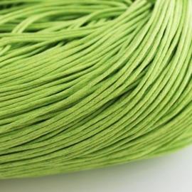 10 meter waxkoord 1,5mm dik kleur: lime