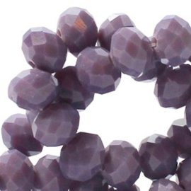 20 x Topfacet 6x4 mm Bellflower Purple