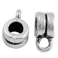 10 x bails platinum hanger metaal met oogje vintage style 9x5mm  Ø 3,5mm