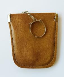 Sleutel etui - faux leder kleur bruin model A