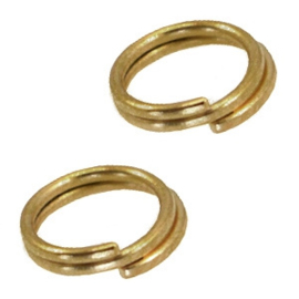 10 x DQ metaal splitring /double ring 7mm Ø5.7mm Antiek brons