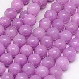 20 x half edelsteen kraal natuur Jade Lavender 6 mm