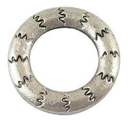 10 x gesloten tibetaans zilveren ringen rond 17 x 2mm Gat: 10mm