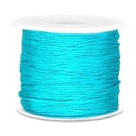 Per 2 meter Macramé draad 0.7mm Dark azure blue