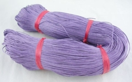 Waxkoord 10 meter 1mm lila lavendel structuur A