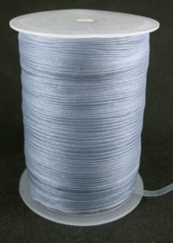 1 meter organza lint 6mm gray