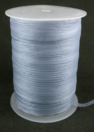 2 meter organza lint 6mm gray