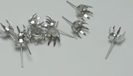 5 Paar oorbelstekkers platium 10x0,50mm