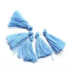 3 x Kwastje Cornflower Blue 30mm
