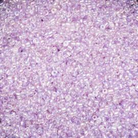 20 gram 12/0 zacht lila hoogglans inside rainbow rocailles