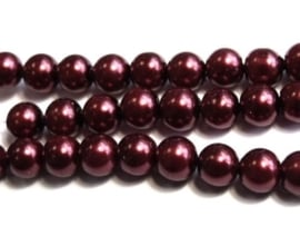 20 x acryl parel 10mm Bordeaux rood