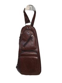 Unisex Crossbody bag brown