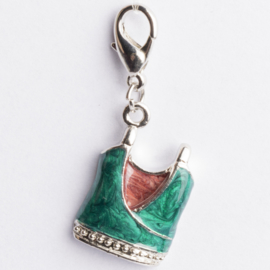 Be Charmed shirt sandal met karabijnsluiting zilver met een rhodium laag (nikkelvrij)