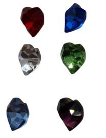 3x Precosia kristal in de vorm van een hart Mix 6,5 mm