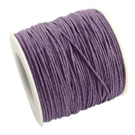 10 meter Waxkoord 1.0 mm Medium Purple
