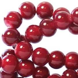 15 stuks Keramische Glaskralen 8mm Garnet red