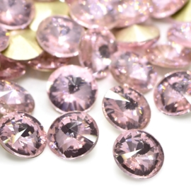 5 x Puntsteen Rivoli Preciosa voor Puntsteen SS45 Setting c.a.10 x 5mm Light Rose
