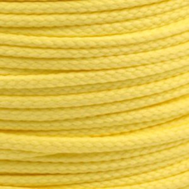 1 meter sieradenkoord c.a. 5 x 3mm kleur Pastel Yellow