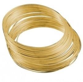 Memory Wire voor armbanden 55 mm 40 wendingen draad dikte 0,8mm goud kleur
