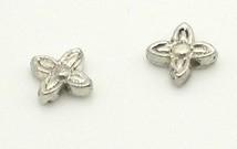 15 stuks metalen kraal bloemmodel 8 mm