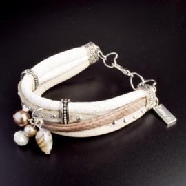 Prachtige armband, verstelbaar met metalen elementen bedel dance