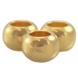 DQ metaal ball 4 x 2.5 mm Goud (nikkelvrij)