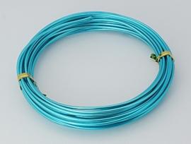 Aluminium draad 2mm dik, 5m/rol turquoise