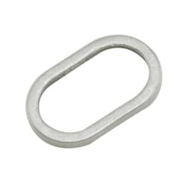 10 stuks Tibetaans zilveren gesloten ringen ovaal 10 x 6,5 x 1mm gat: 4,5 x 8mm