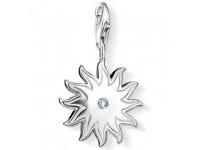 Shining star  925 Sterling Zilveren Bedel met karabijnsluiting
