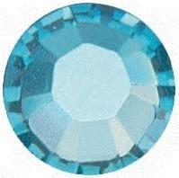 10 x Swarovski Aquamarine plat strass steentje 4mm