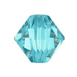 10 x Preciosa Kristal Bicone kraal 8 mm light Turquoise