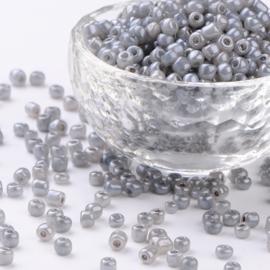 Zakje mooie rocailles 20 gram Seed Beads 6/0  4mm gat: 1,5mm Dark Grey