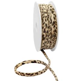 c.a. 50 cm Stitched elastisch lint Ibiza Beige brown panther