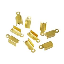 10 stuks goud kleur veterklemmen 12 x 5 x 4mm gat: 1,5mm