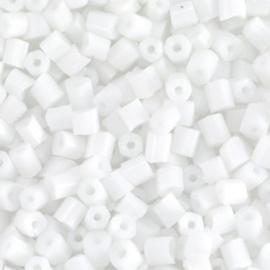20 gram Glaskralen Rocailles Special Buggles 6/0 (4mm) White